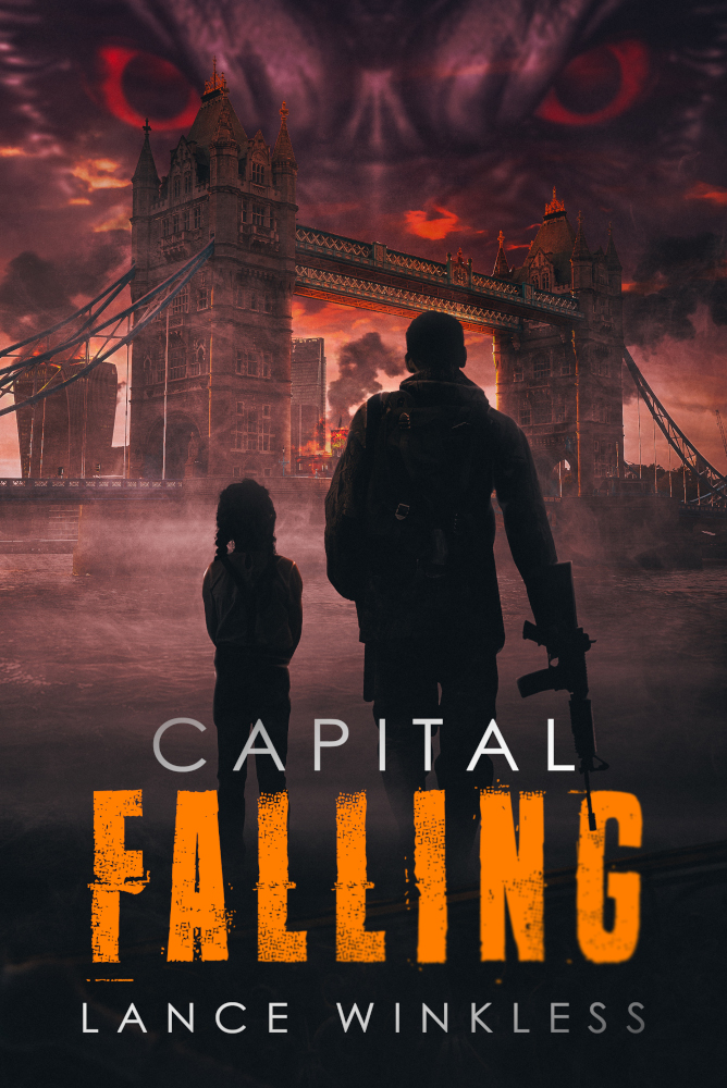 Capital Falling, novel, front book cover, London, Apocalypse and zombies