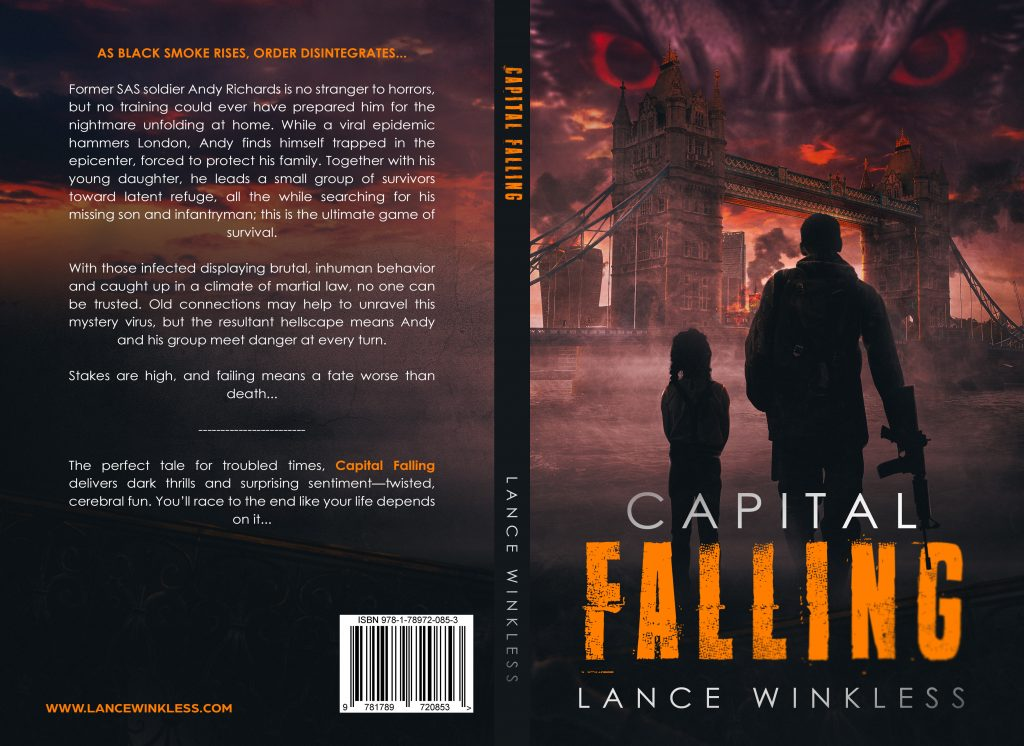 Whole book cover for Capital Falling the Apocalypse novel
